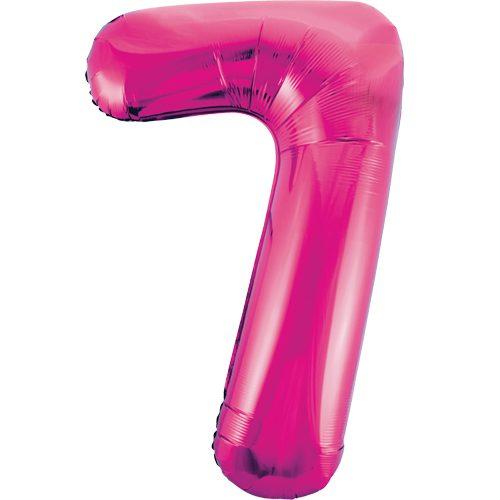 Balão Grande Número 7 Rosa Choque 34″