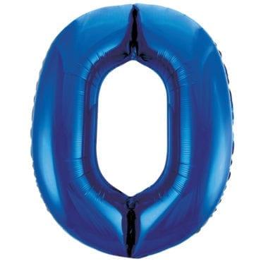 Balão Grande Número 0 Azul Escuro 34″
