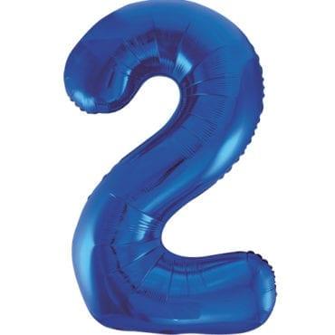 Balão Grande Número 2 Azul Escuro 34″