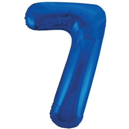 Balão Grande Número 7 Azul Escuro 34″