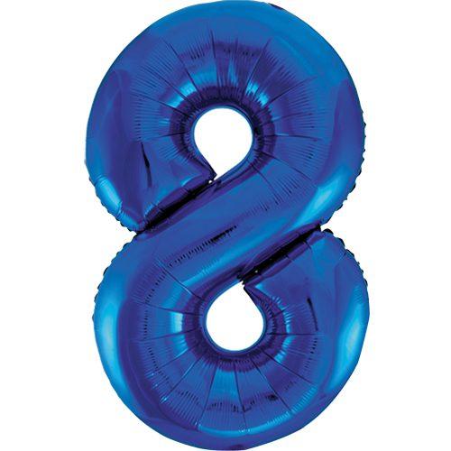Balão Grande Número 8 Azul Escuro 34″