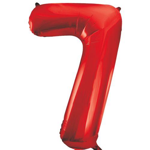 Balão Grande Número 7 Vermelho 34″