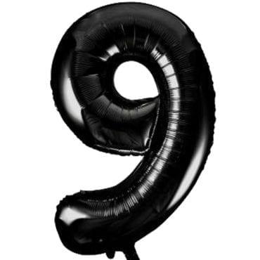 Balão Grande Número 9 Preto 34″