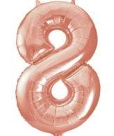 Balão Grande Número 8 Rose Gold 34″