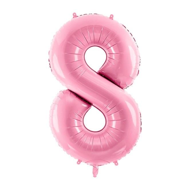 Balão Grande Número 8 Rosa Bebé 34″